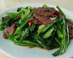 菜心炒牛肉