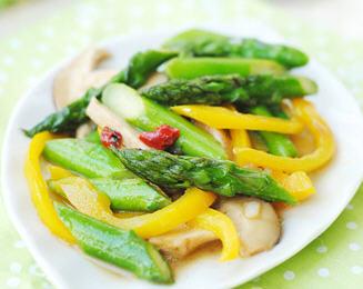 鲜菇小炒芦笋