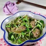 鸡肝豆苗汤