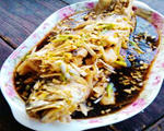 油泼蒜末黄菇鱼