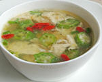 秋葵虾米蛋花汤