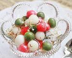 桂花三色珍珠圆子