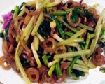 猪皮炒芹菜