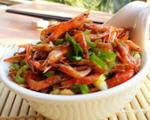 青椒炒小虾干