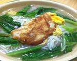 鸡蛋油麦菜面条