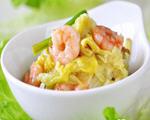 虾仁烩白菜心