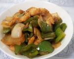 青椒洋葱炒鱼柳