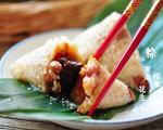 蜜枣花生粽子