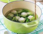 简易菠菜鱼丸汤