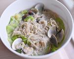 蛤蜊丝瓜荞麦面线(瘦身美食)