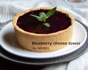 蓝莓芝士塔