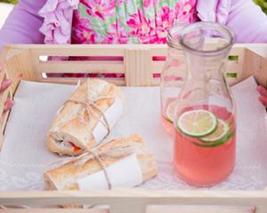 粉红蜂蜜柠檬茶