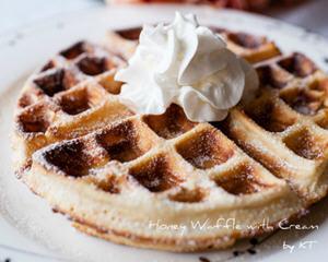 蜂蜜奶油格子松饼