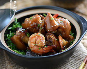 蚝香鲜虾猪手煲
