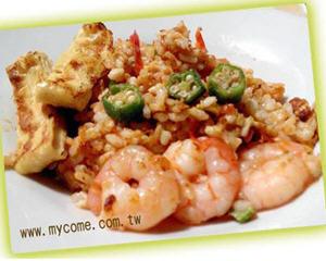 燕麦虾仁炒饭