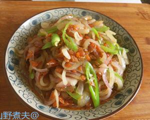 洋葱炒虾干