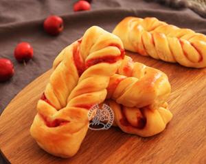 山楂果酱面包条中种法