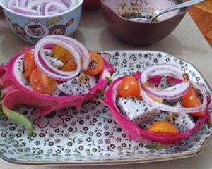 火龙果紫洋葱沙律
