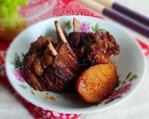 铁锅红烧羊肉