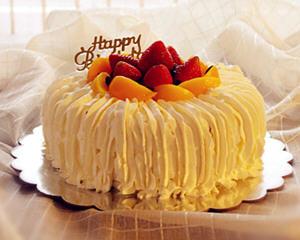 无需抹面工序的生日蛋糕