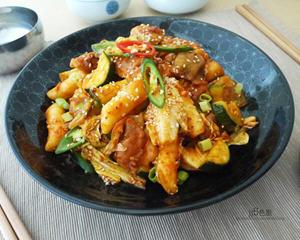 韩式辣炒鸡排年糕