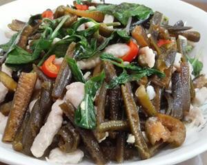 海茸炒肉丝