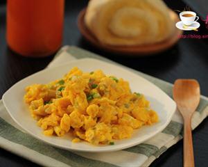 榨菜炒鸡蛋的家常做法