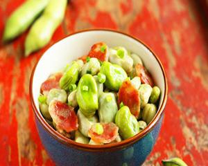 葱香腊肠蚕豆