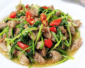 香菜炒羊肉