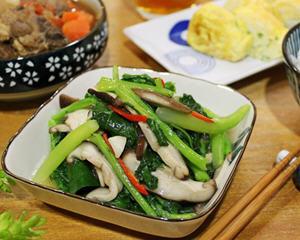 芥兰烩鲜菇