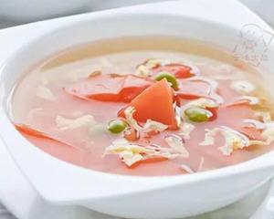 西红柿豌豆鸡蛋汤