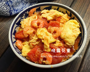 番茄虾仁鸡蛋