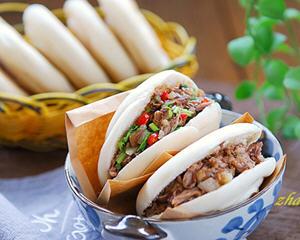 陕西腊汁肉夹馍(附白吉馍做法)