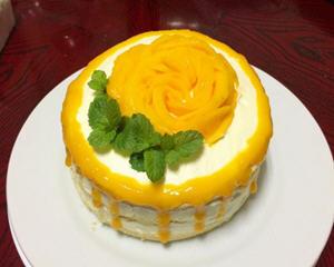 芒果香草戚风蛋糕