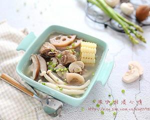 百菇排骨汤