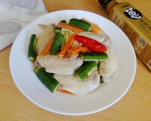 葱油鸡翅拌小黄瓜电锅版