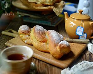 伯爵奶酥面包佐红茶