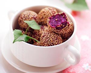 芝麻紫薯球