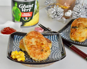 金黄玉米土豆饼