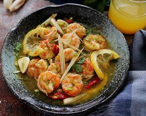 泰式料理酸橙香茅虾