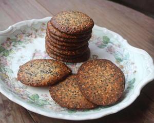 烤箱烤箱芝麻薄脆饼
