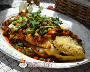老干妈豆豉煎黄花鱼