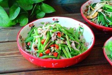 扁豆炒肉丝家常做法与窍门