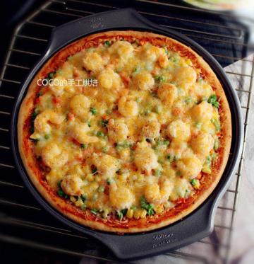 12寸纯手工虾仁披萨1