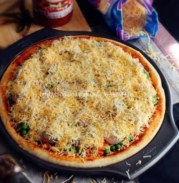 12寸纯手工虾仁披萨2