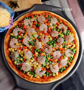 12寸纯手工虾仁披萨3