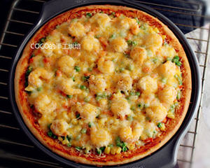 12寸纯手工虾仁披萨