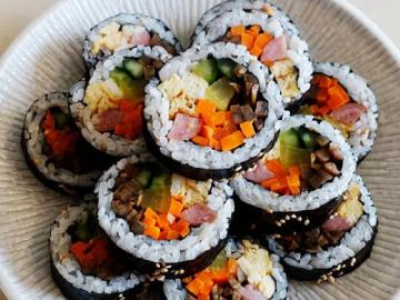原味韩式紫菜包饭的做法与窍门图解1