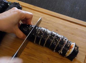 原味韩式紫菜包饭的做法与窍门图解2