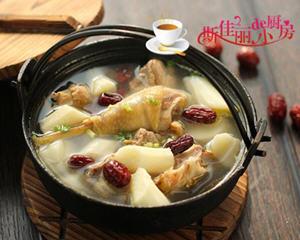 红枣山药土鸡汤电炖锅版